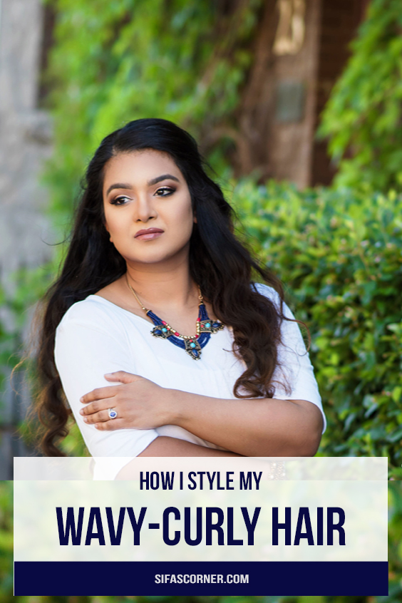 how to style wavy curly hair