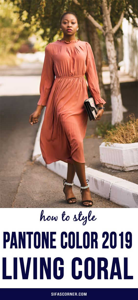 how to wear pantone color-living coral- Sifa's Corner